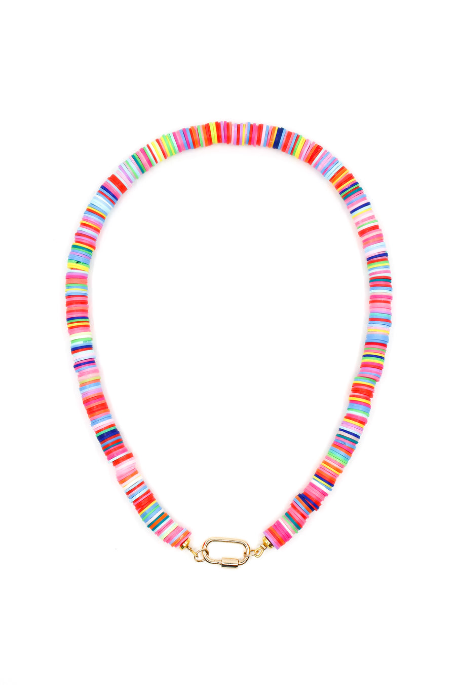 Multicolor Disk Clasp Necklace - 14kt gold - Monisha Melwani Jewelry