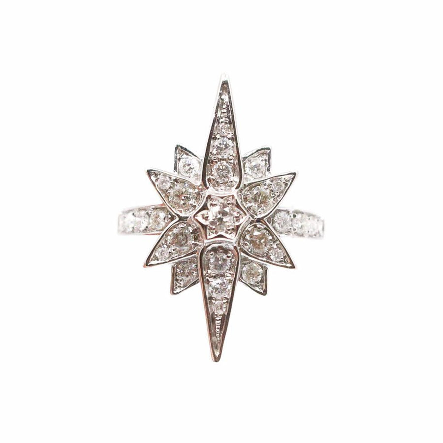 Diamond Starburst Ring - 18KT Gold - Monisha Melwani Jewelry