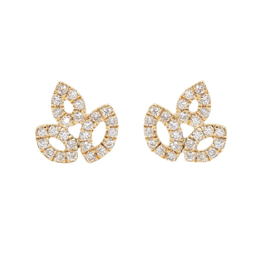 Diamond Multi Pear Cutout Earrings - 14KT Gold - Monisha Melwani Jewelry