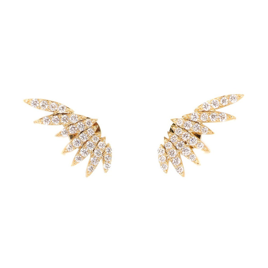 Diamond Wing Ear Climber - 14KT Gold - Monisha Melwani Jewelry