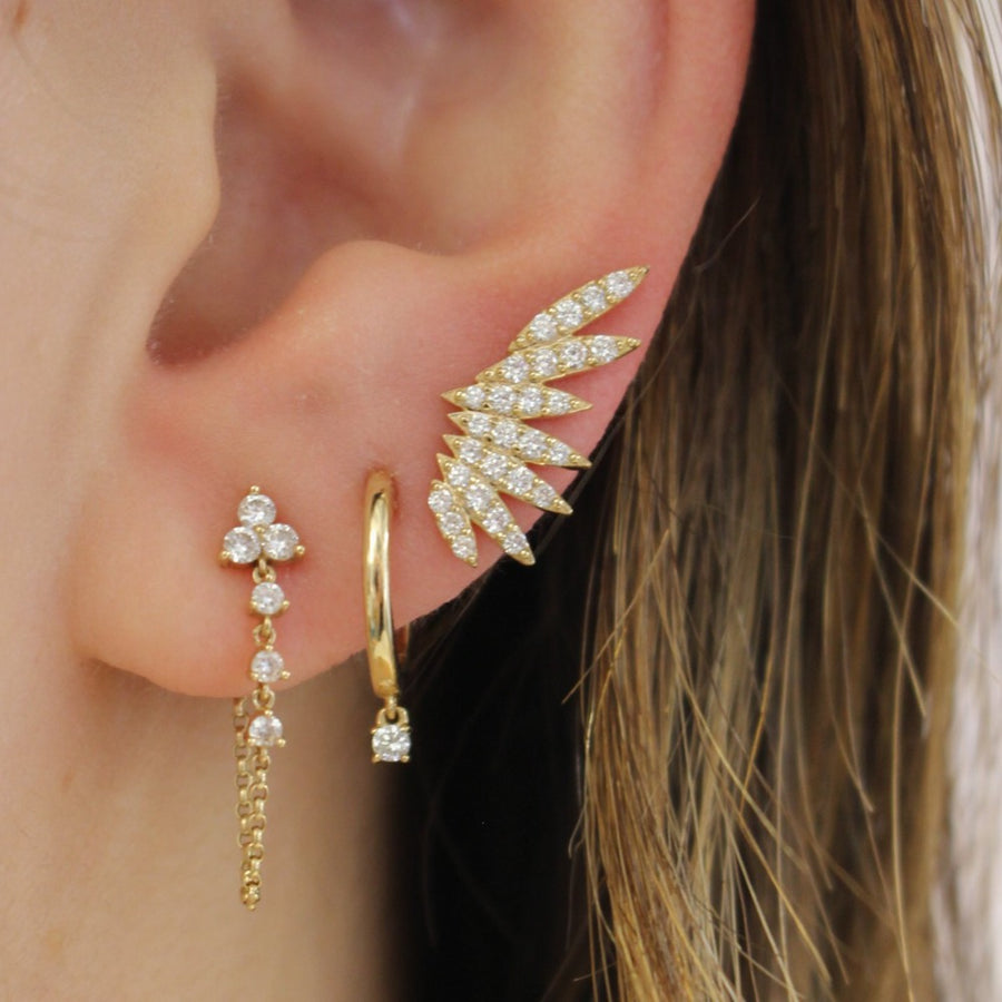 Diamond Wing Ear Climber