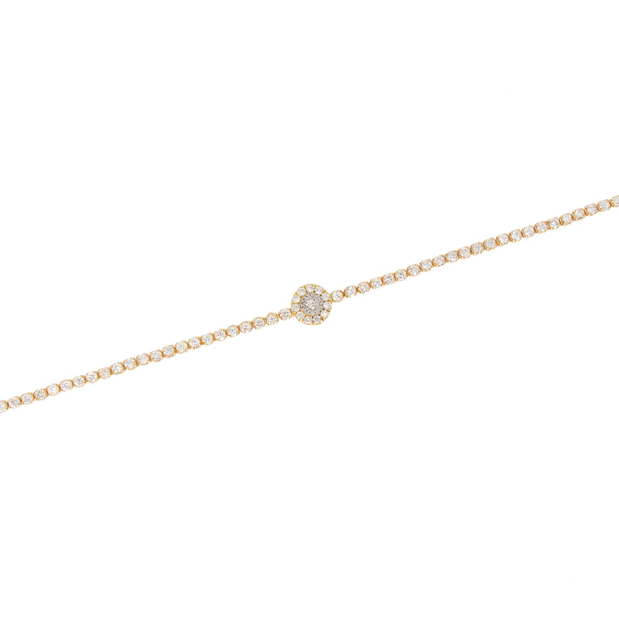 Round Diamond Tennis Bracelet - 18KT Gold - Monisha Melwani Jewelry