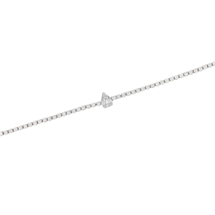 Pear Shaped Diamond Tennis Bracelet - 18KT Gold - Monisha Melwani Jewelry