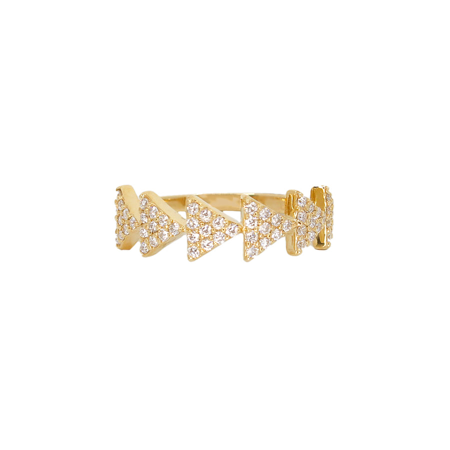 Gold Diamond Arrow Ring-14KT- Monisha Melwani Jewelry