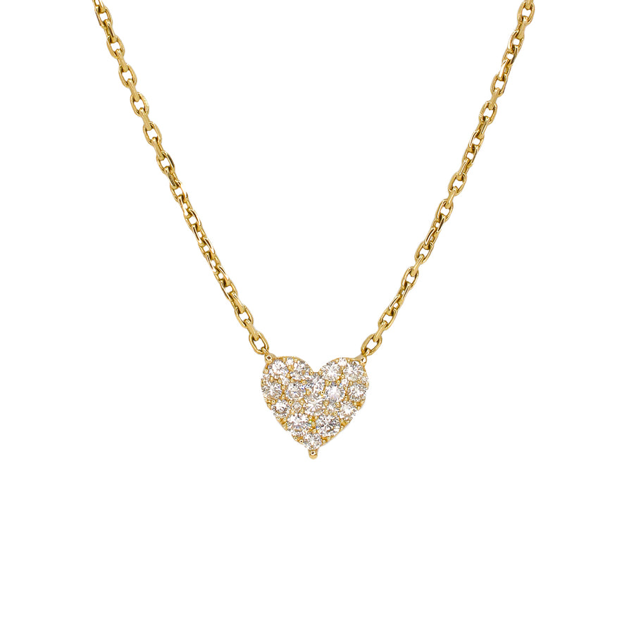 Gold Diamond Heart Chain Necklace - 14KT Gold - Monisha Melwani Jewelry