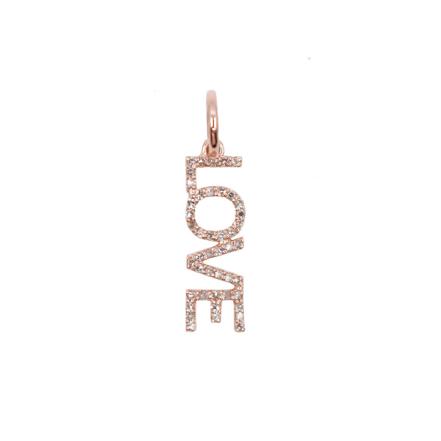 Gold Diamond Love Pendant