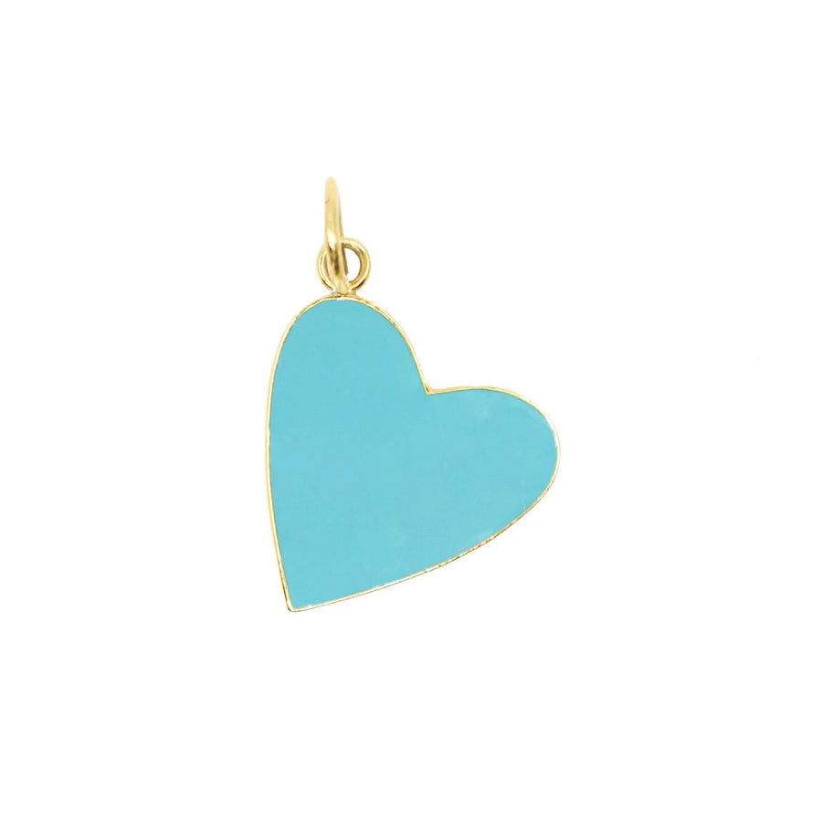 Enamel Heart Pendants - 14KT Gold Plated - Monisha Melwani Jewelry