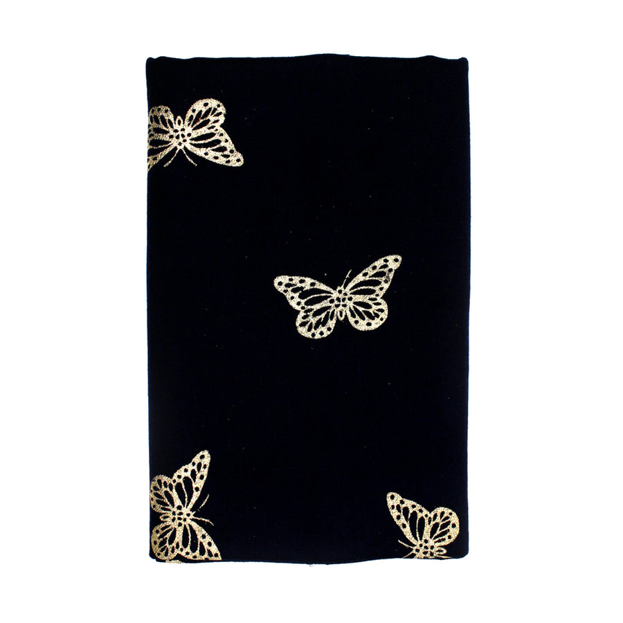 Black Butterfly Pashmina Shawl - Monisha Melwani Jewelry - MIY