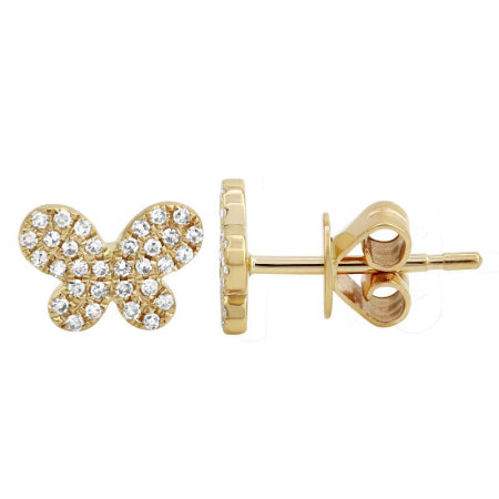 Mini Gold Butterfly Earrings