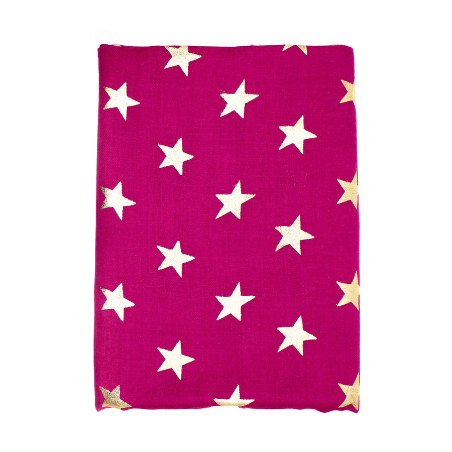 Hot Pink Star Pashmina Shawl - Monisha Melwani Jewelry - MIY