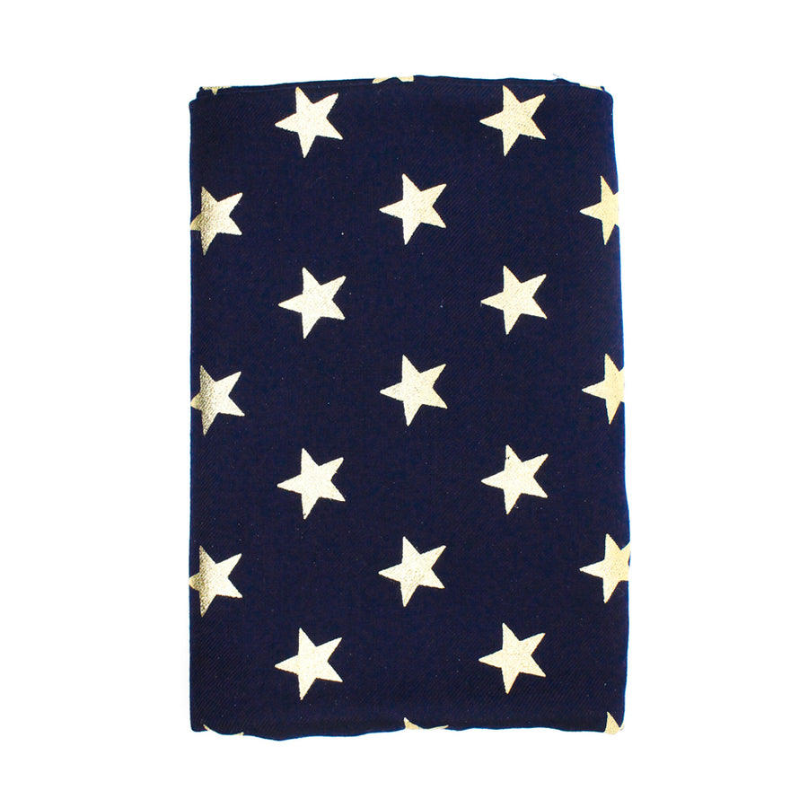 Navy Blue Star Pashmina Shawl - Monisha Melwani Jewelry - MIY