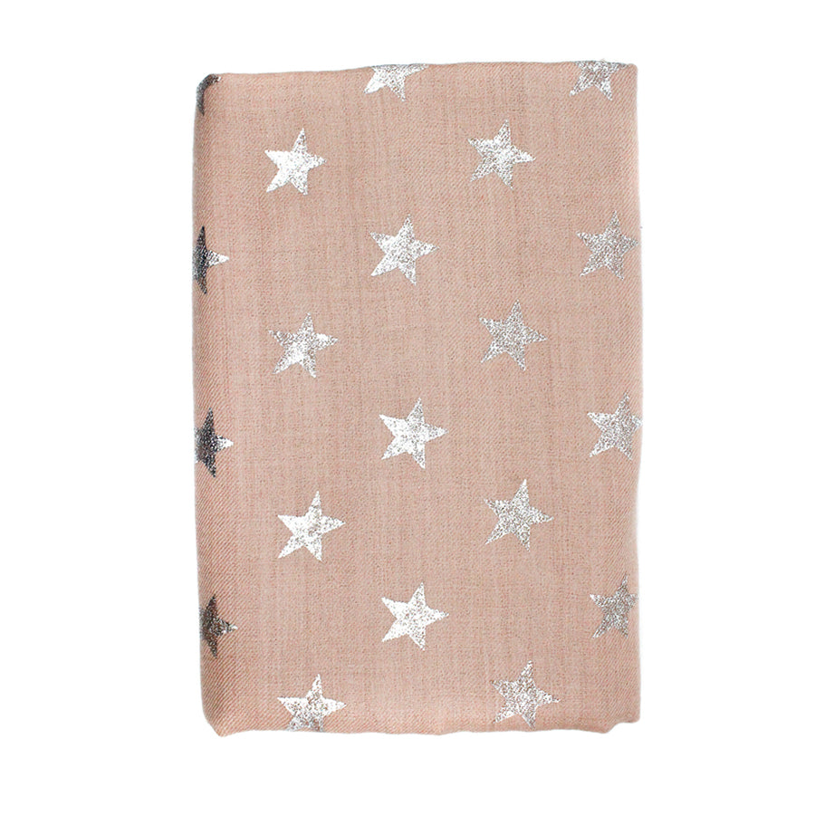 Taupe Star Pashmina Shawl - Monisha Melwani Jewelry - MIY