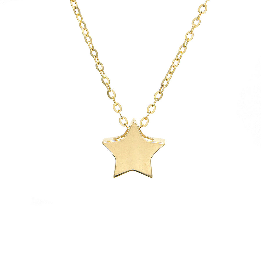 Yellow Gold Star Necklace - Monisha Melwani Jewelry