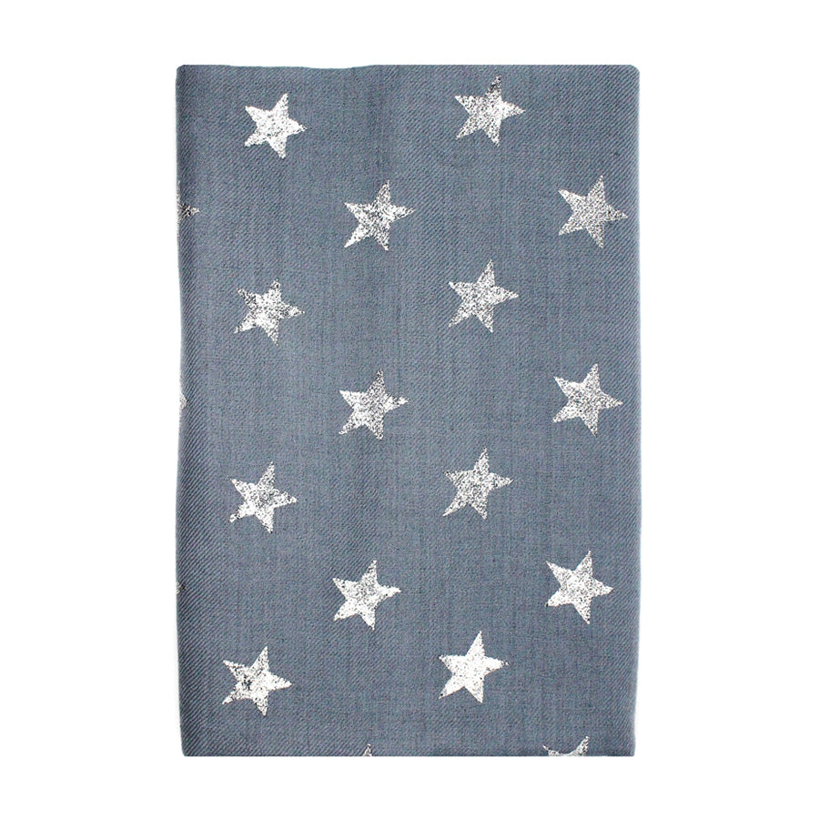 Gray Star Pashmina Shawl - Monisha Melwani Jewelry - MIY