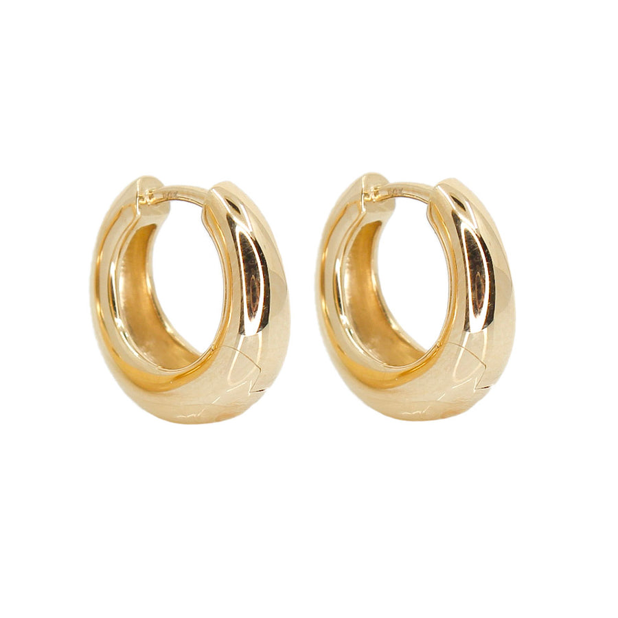 Gold Dome Hoop Earrings - 14Kt Gold - Monisha Melwani Jewelry