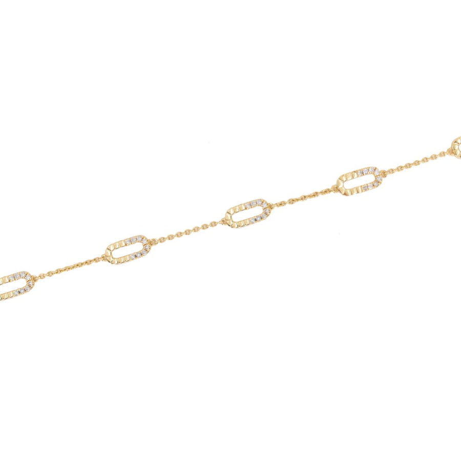 Diamond Multi Link Gold Bracelet - 14KT Gold - Monisha Melwani Jewelry
