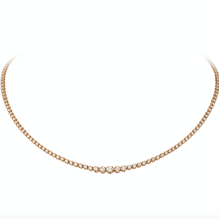 Gold Graduated Buttercup Diamond Necklace - 18KT Gold - Monisha Melwani Jewelry