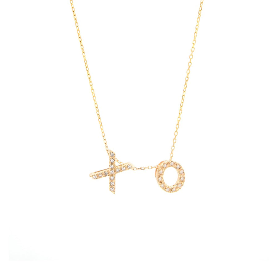 Gold Diamond Personalized Initial Necklaces - 14KT GOLD - Monisha Melwani Jewelry