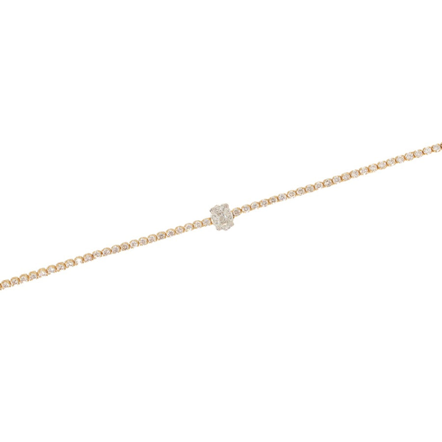 Gold Oval Diamond Tennis Bracelet - 18KT Gold - Monisha Melwani Jewelry