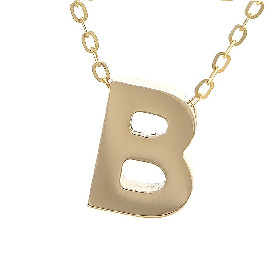 Yellow Gold Initial Necklace
