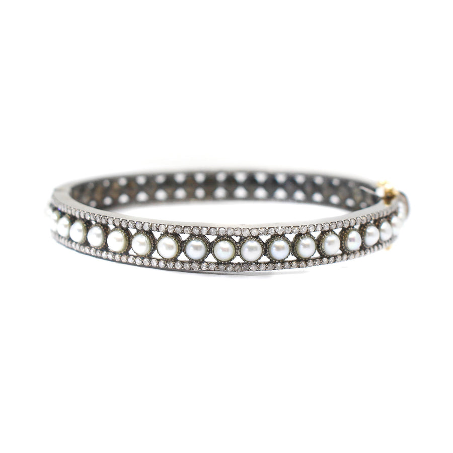 Diamond Freshwater Pearl Bangle