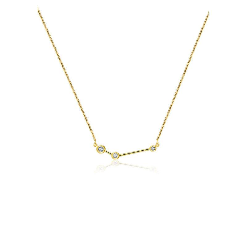 Gold Diamond Zodiac Necklace