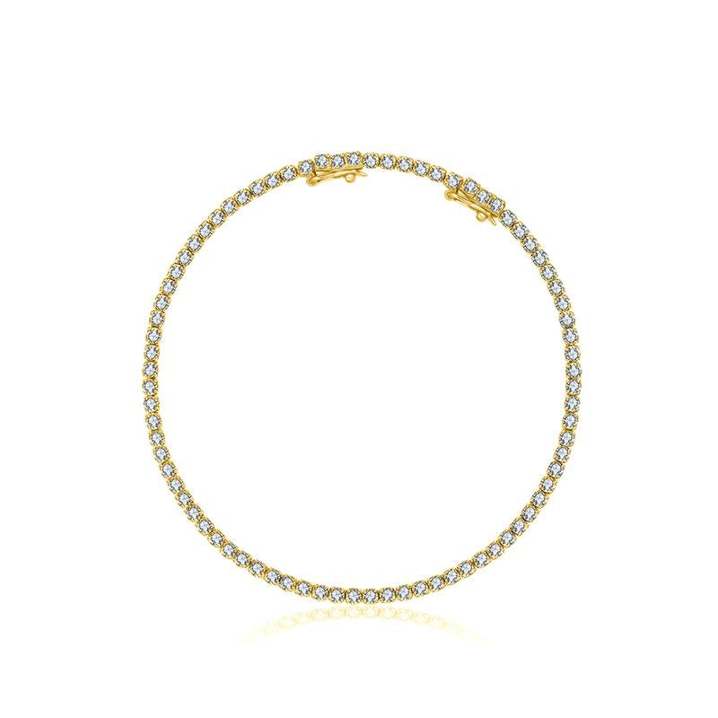 Gold Diamond Tennis Bracelet - 18KT Gold - Monisha Melwani Jewelry