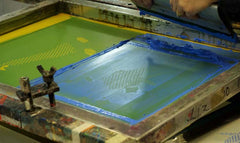The screen on the print bed