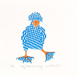 Darwin found these cute little birds on the Galapagos Islands. The brighter the foot, the more successful and popular they were. 2 colour screen print, 15x15 cm, £50.