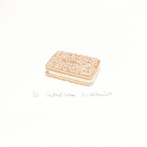 Custard cream biscuit, mini print