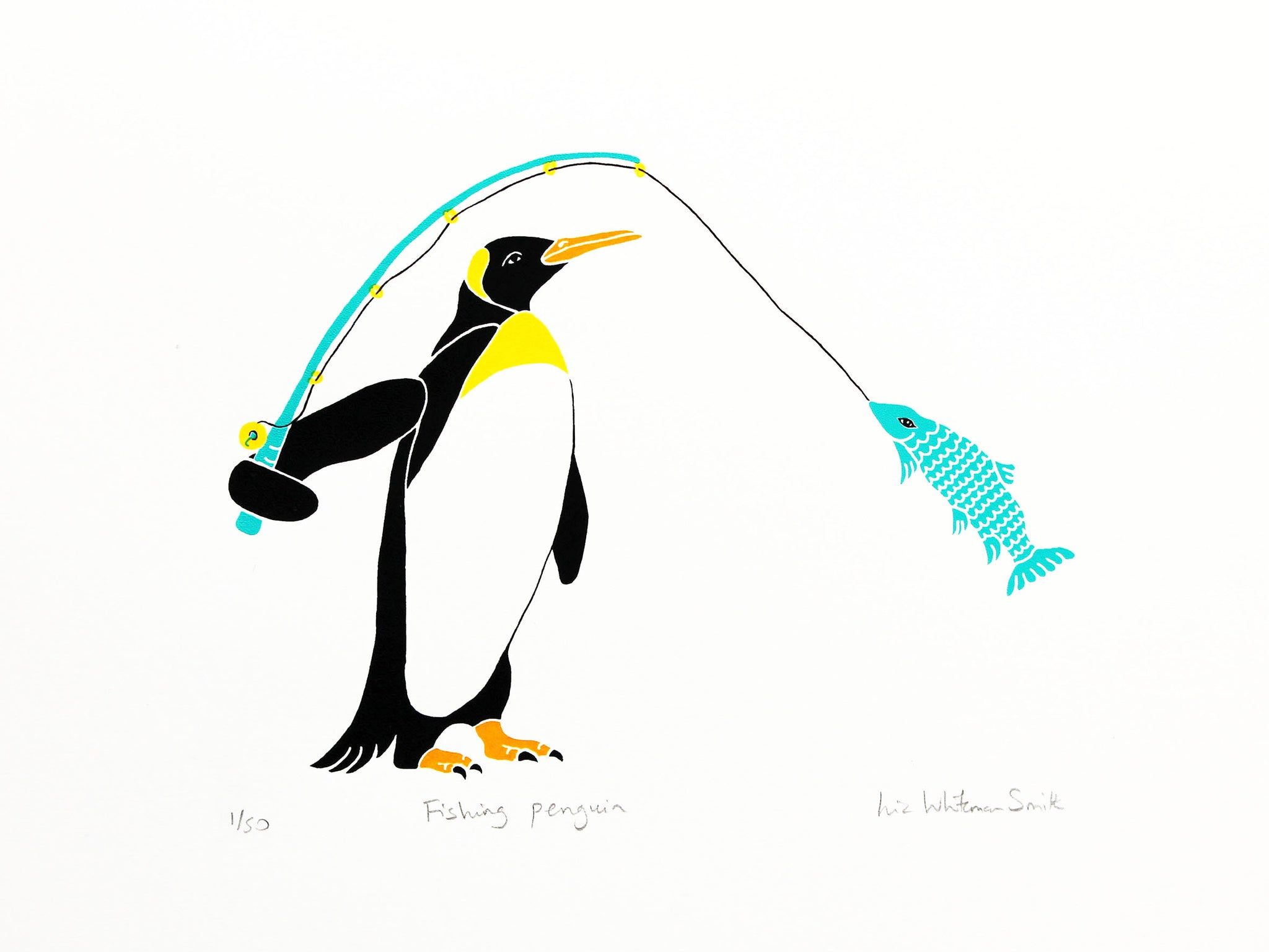 Fishing penguin