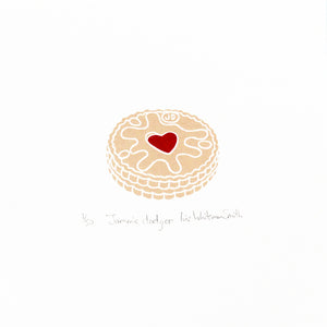 Jammie dodger biscuit mini print