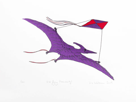 Kite flying Pterodactyl