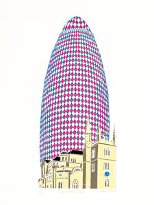 Pink Gherkin, London
