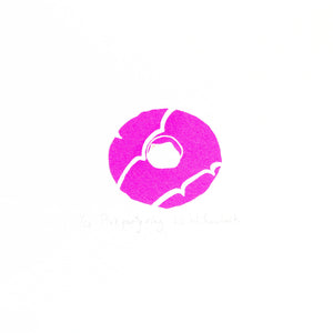 Pink party ring biscuit mini screen print