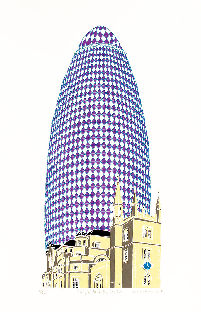 Purple Gherkin, London