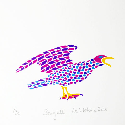 Multicoloured sea gull