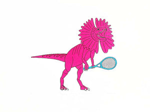 Tennis playing Dilophosaurus