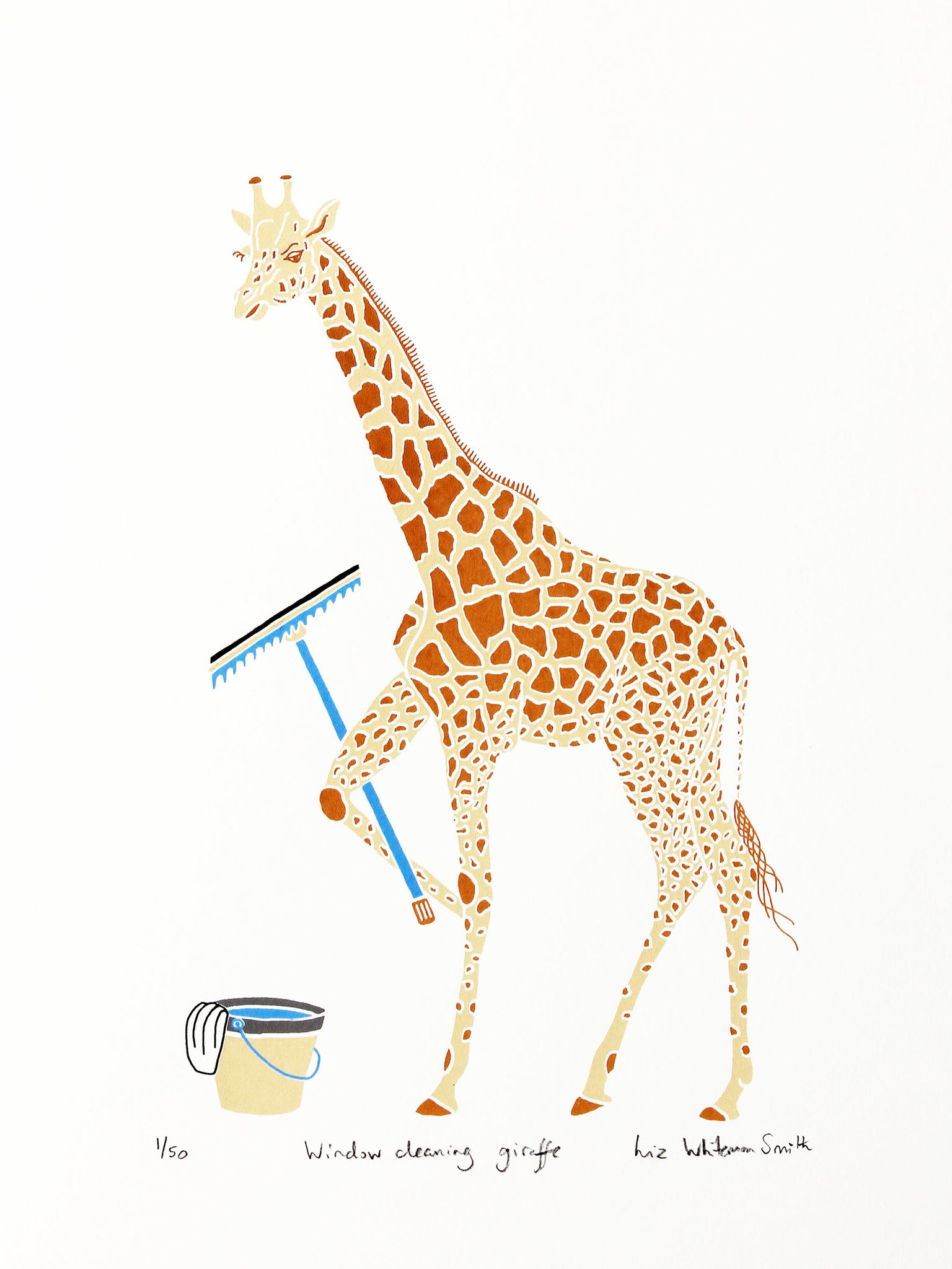 Window cleaning giraffe