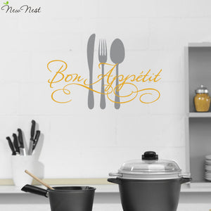 Creative art wall sticker - bon appetit