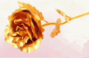 Foiled Gold Rose