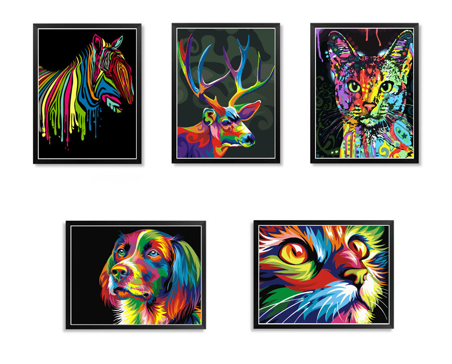 Wall Art Animals Model (Hand Made - Oil Paint)