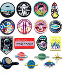 Mixed patches for clothes - Planet stickers