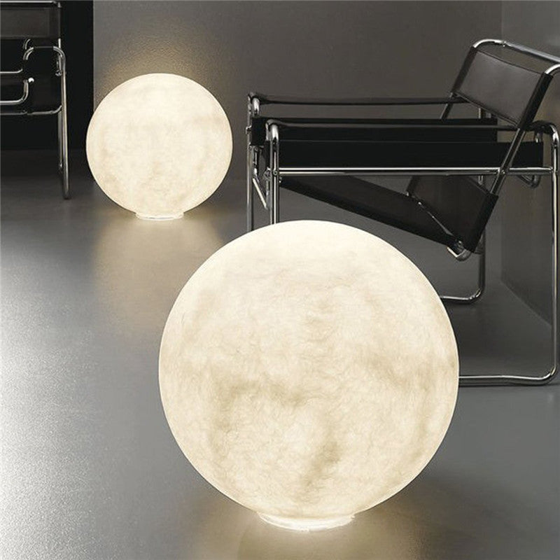 3D Lunar Moon - White model