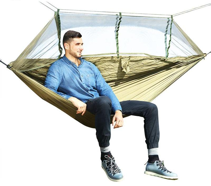 Outdoor anti-mosquito hammock