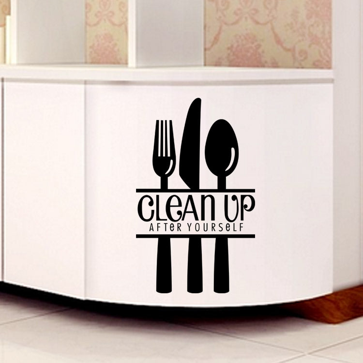 Creative art wall sticker - clean up