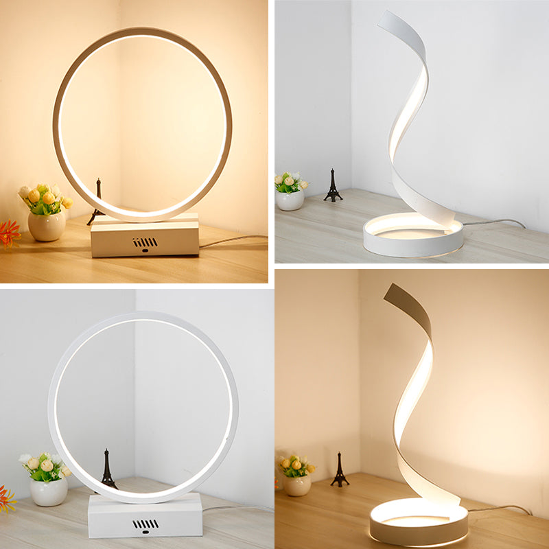 2 Modern Desk Lamp ( Circle Model and Wave model)
