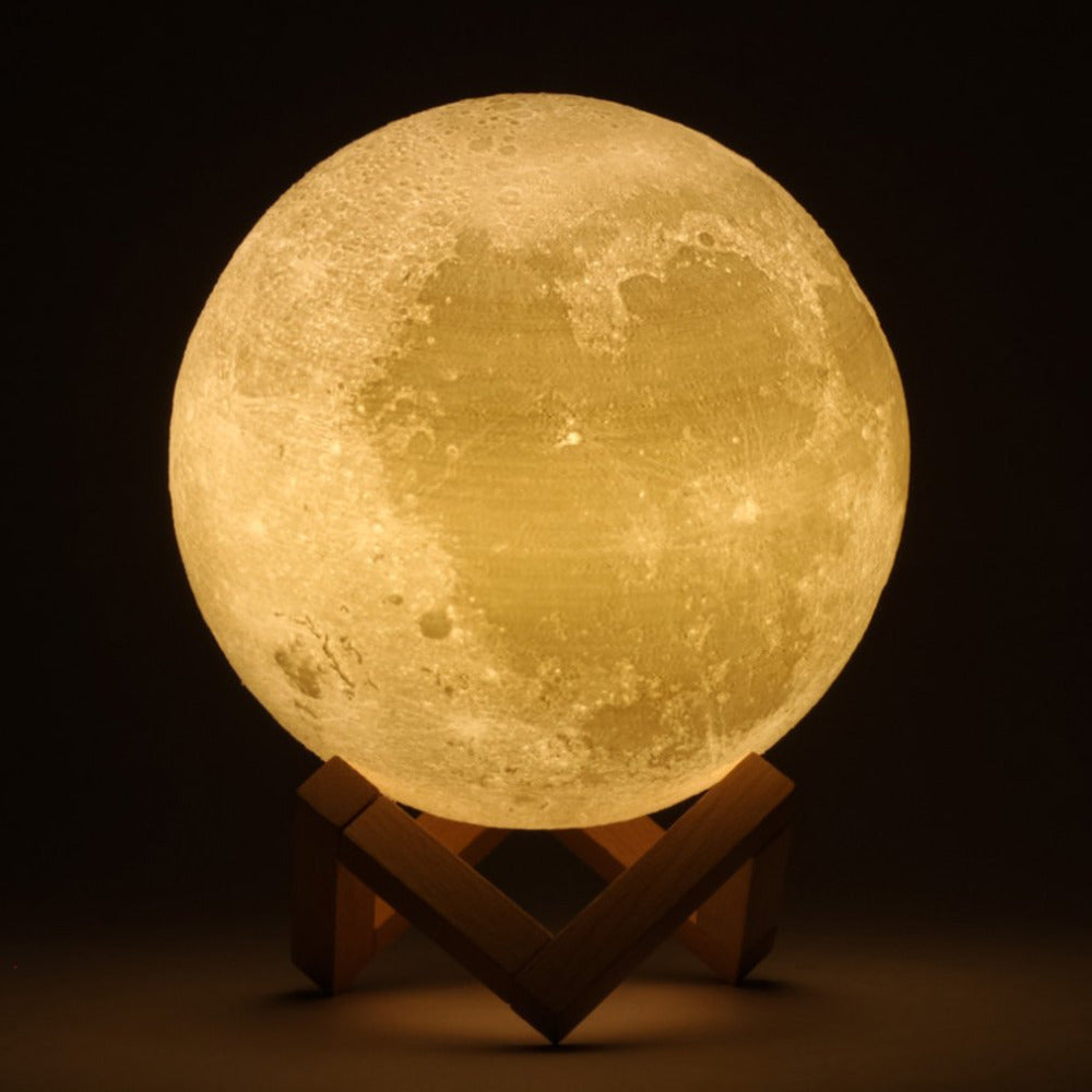 3D Lunar Moon - Yellow model