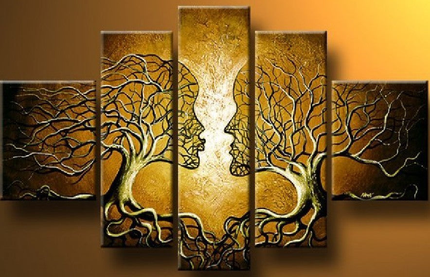 Wall Art Tree of Life Model (5pcs 1price) Oil Painting