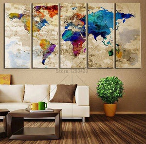 World Map Mosaic Model